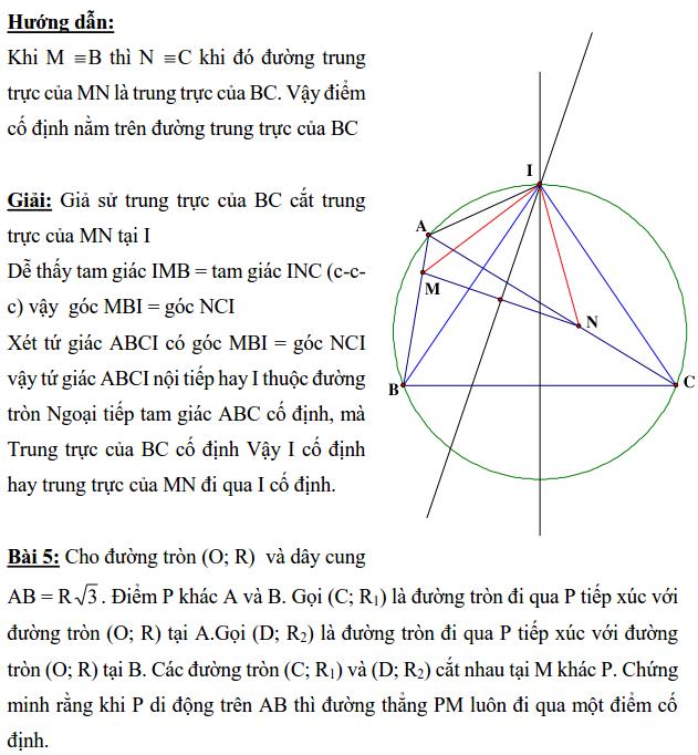 Ôn tập: Chứng minh đường thẳng đi qua điểm cố định-4