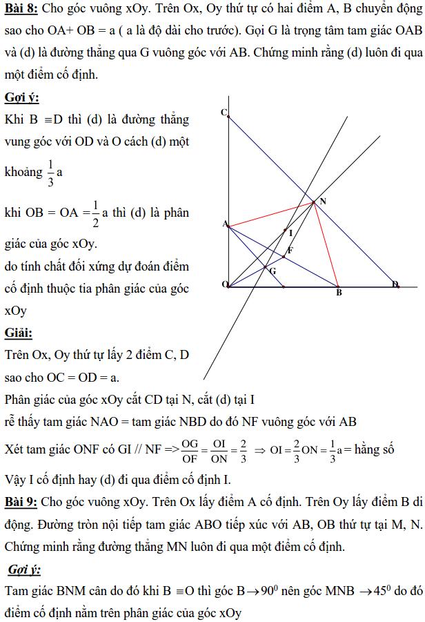 Ôn tập: Chứng minh đường thẳng đi qua điểm cố định-8