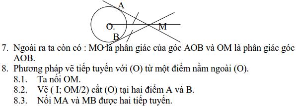 Ôn tập: Tiếp tuyến của đường tròn-1
