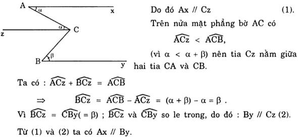 Vẽ thêm yếu tố phụ để chứng minh hai đường thẳng song song-5