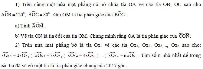 Đề thi HSG Toán 6 Phòng GD&ĐT Tiền Hải, Thái Bình 2016 - 2017