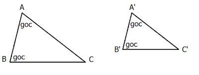 Các trường hợp đồng dạng của tam giác