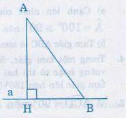 Quan hệ giữa đường vuông góc và đường xiên, đường xiên và hình chiếu