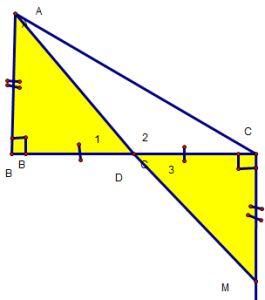 Cách chứng minh 3 điểm thẳng hàng qua các ví dụ - Toán lớp 7