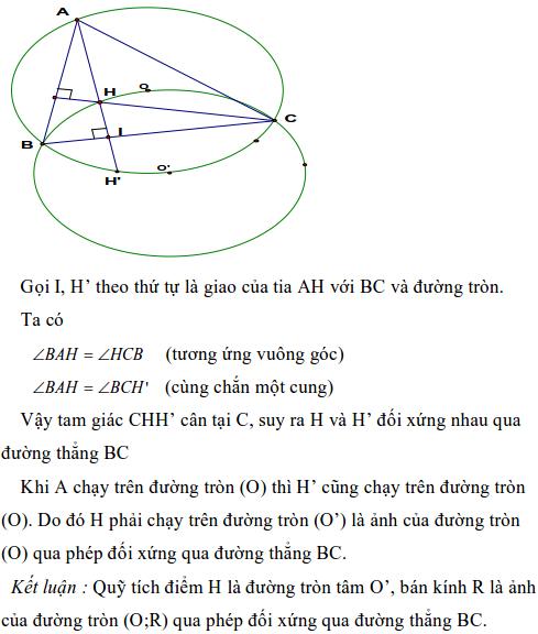 Ứng dụng phép biến hình để giải bài toán quỹ tích