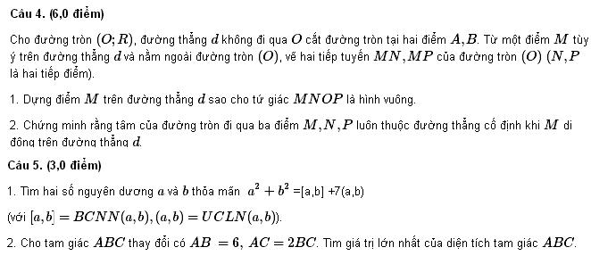 Đề thi HSG môn Toán lớp 9 tỉnh Bắc Ninh 2012-2013