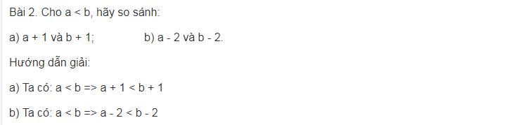 Bất phương trình bậc nhất một ẩn trong toán lớp 8 cơ bản
