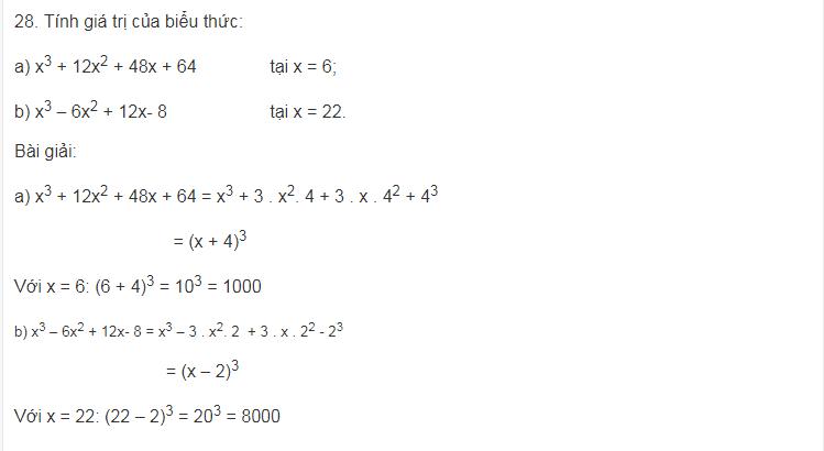 Tiếp tục ôn lại những hằng đẳng thức đáng nhớ phần 2 của toán lớp 8