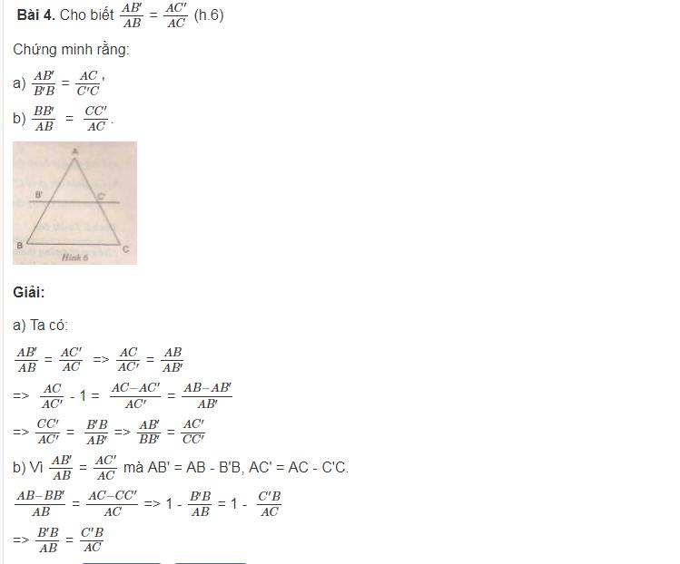 Ôn tập định lý ta lét trong tam giác của toán lớp 8
