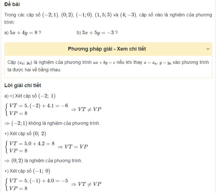Ôn luyện phương trình bậc nhất hai ẩn cơ bản của toán lớp 9