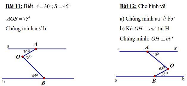 Đề cương ôn tập Hình học 7 chương 1 THCS Giảng Võ 2018-2019-1