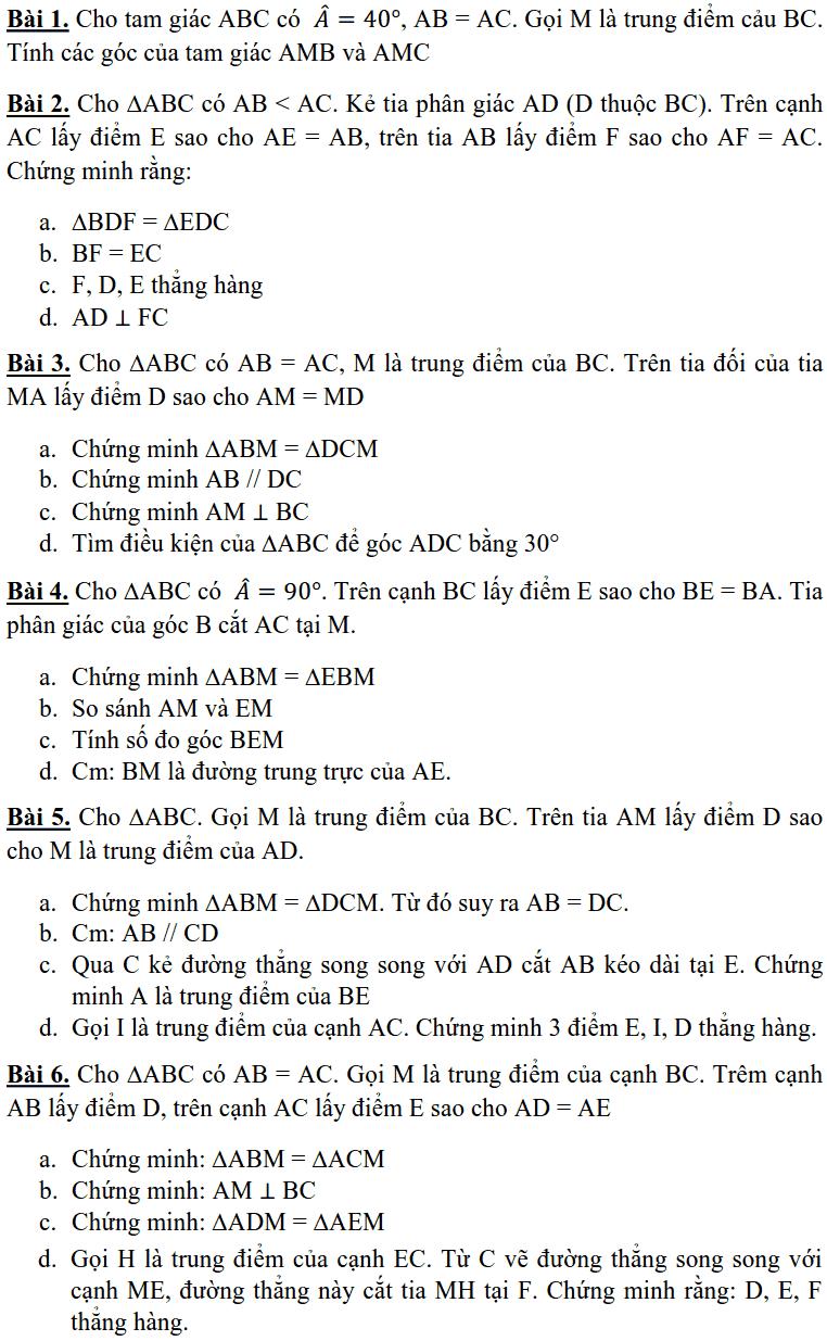 Đề cương ôn tập học kì 1 môn Toán 7 THCS Nguyễn Phong Sắc 2018-2019-5