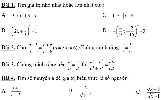 Đề cương ôn tập học kì 1 môn Toán 7 THCS Nguyễn Phong Sắc 2018-2019-7