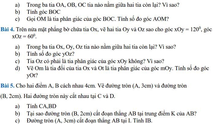 Đề cương ôn tập HK2 môn Toán 6 THCS Nguyễn Bỉnh Khiêm 2017-2018-5