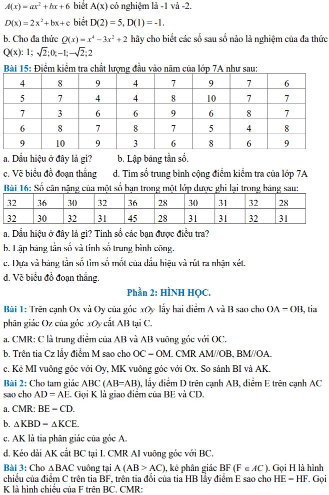 Đề cương ôn tập HK2 môn Toán 7 THCS Lê Quý Đôn 2017-2018-4