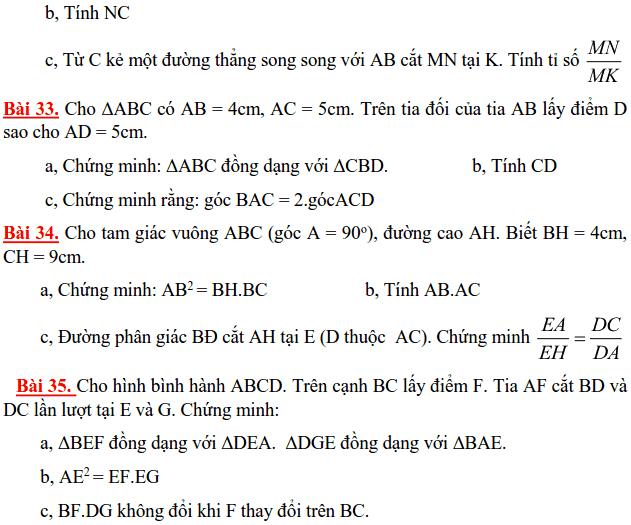 Đề cương ôn tập HK2 môn Toán 8 THCS Lương Thế Vinh 2014-2015-6