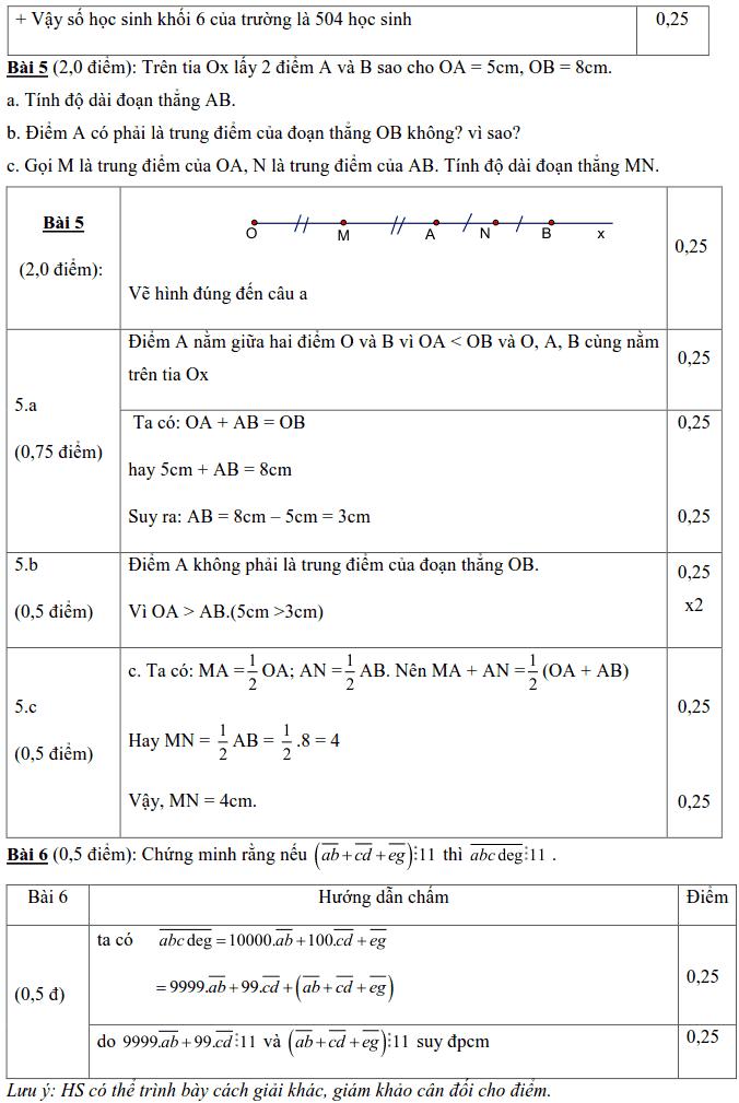 Đề kiểm tra Toán 6 HK1 huyện Xuyên Mộc năm 2018 – 2019-3