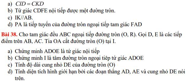 Nội dung ôn tập HK2 môn Toán 9 THCS Cát Linh 2017-2018-9