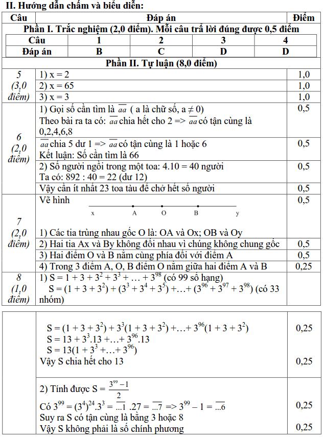 Đề kiểm tra giữa HK1 môn Toán 6 TP Ninh Bình 2018-2019 có đáp án-1