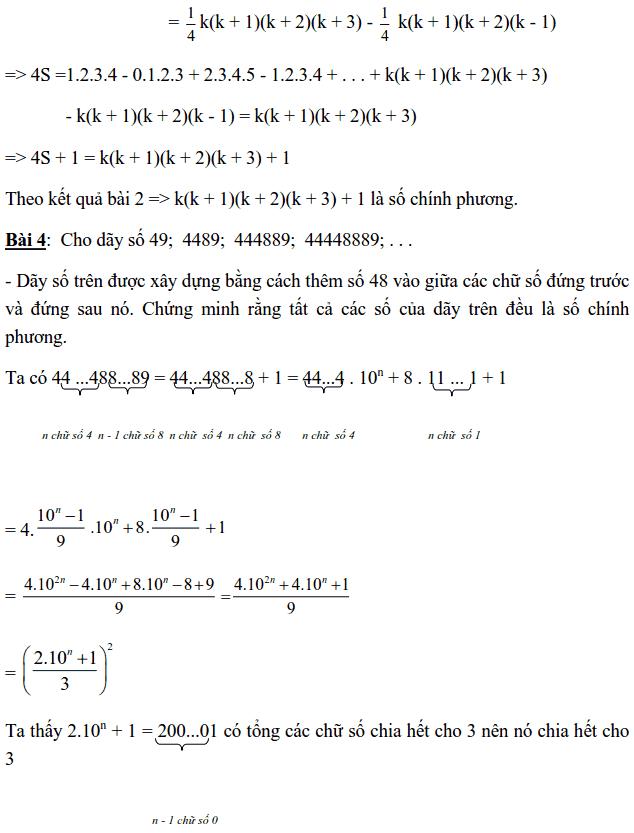 Chuyên đề Số chính phương và các dạng bài tập-1