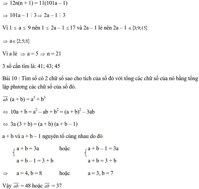Chuyên đề Số chính phương và các dạng bài tập-13