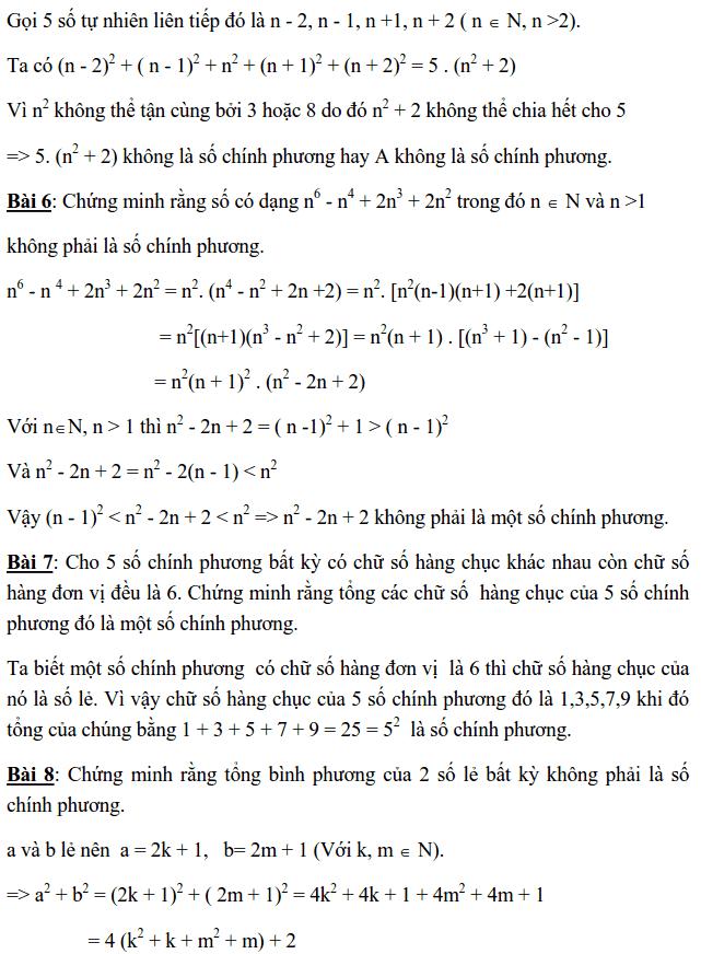 Chuyên đề Số chính phương và các dạng bài tập-3