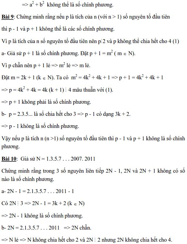 Chuyên đề Số chính phương và các dạng bài tập-4