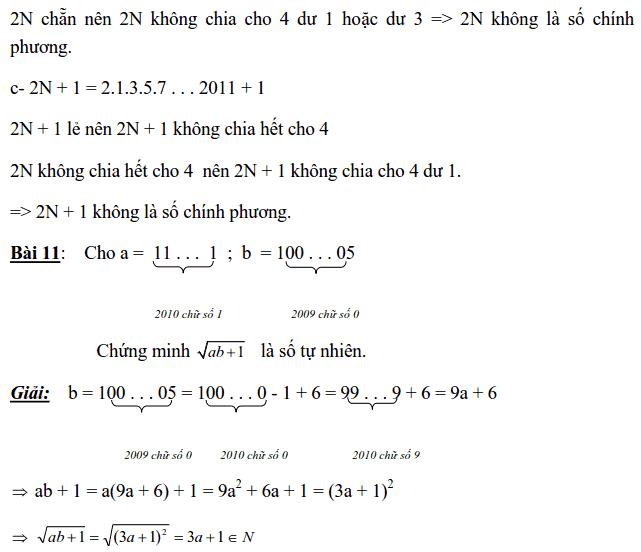 Chuyên đề Số chính phương và các dạng bài tập-5
