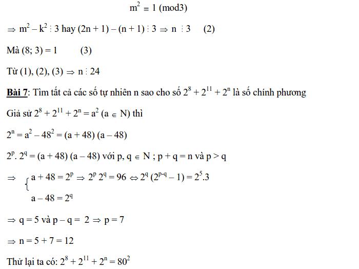 Chuyên đề Số chính phương và các dạng bài tập-9
