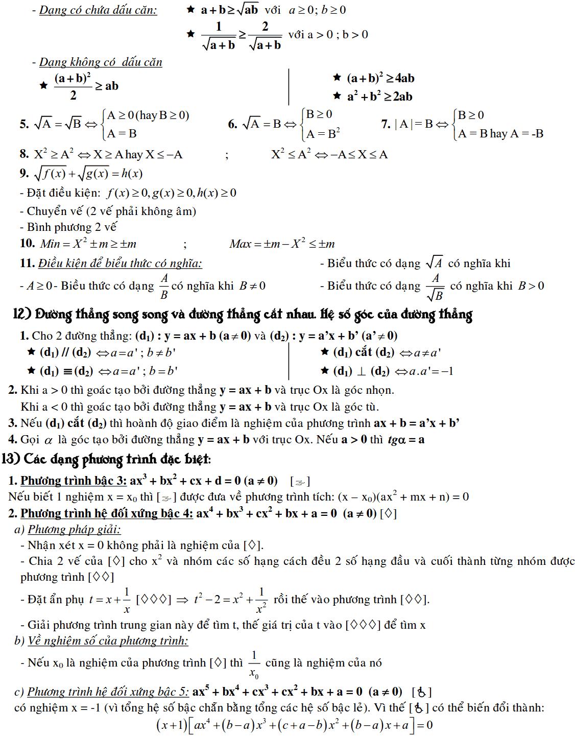 Công thức Toán 9 đầy đủ nhất-4