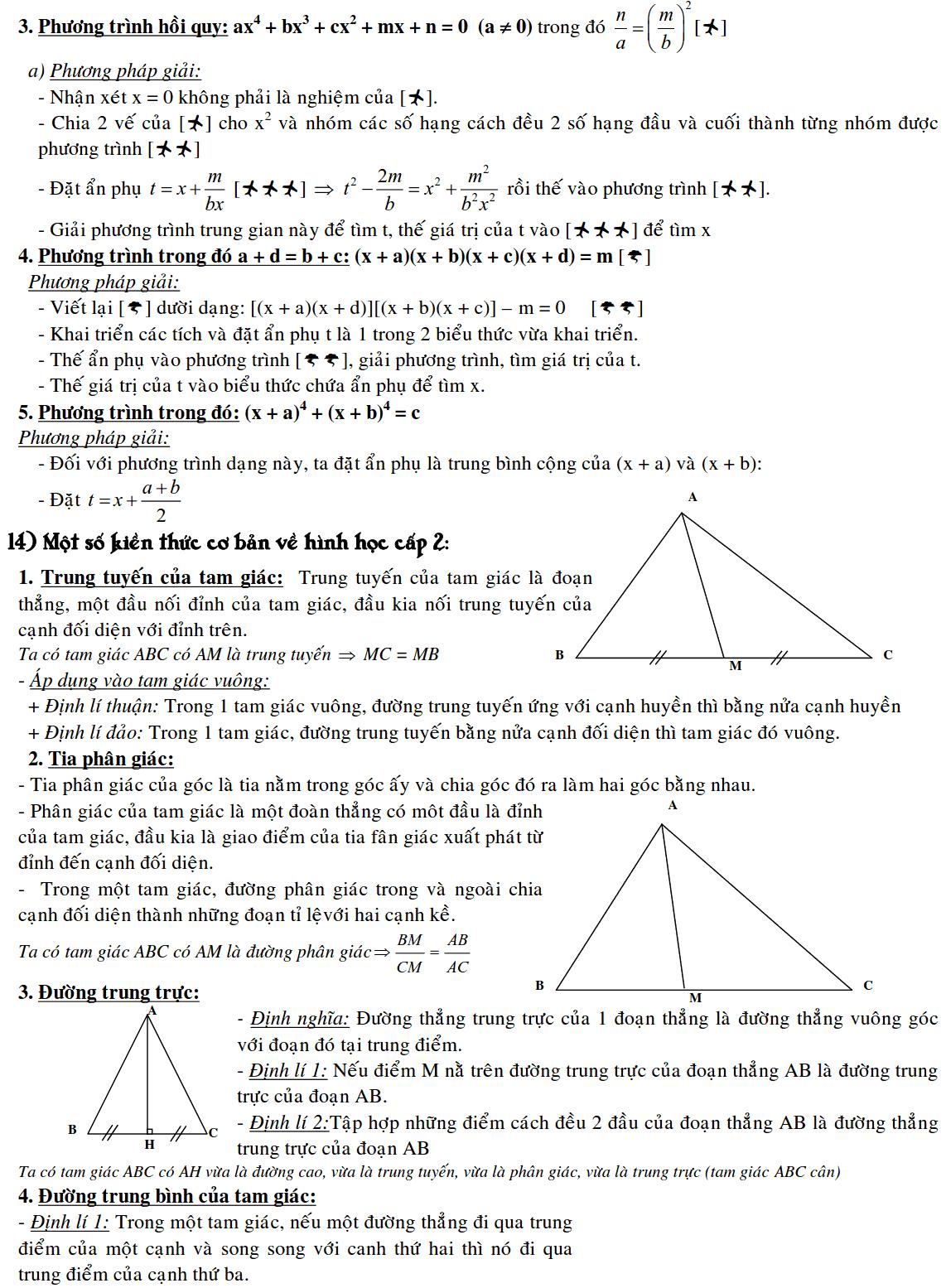 Công thức Toán 9 đầy đủ nhất-5