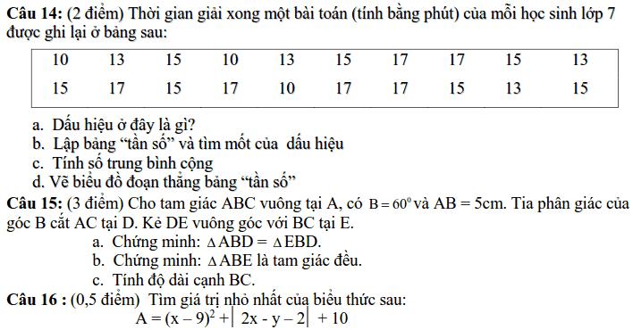 Đề kiểm tra giữa HK2 môn Toán 7 THCS Tiên Hiệp 2018-2019 có đáp án-3
