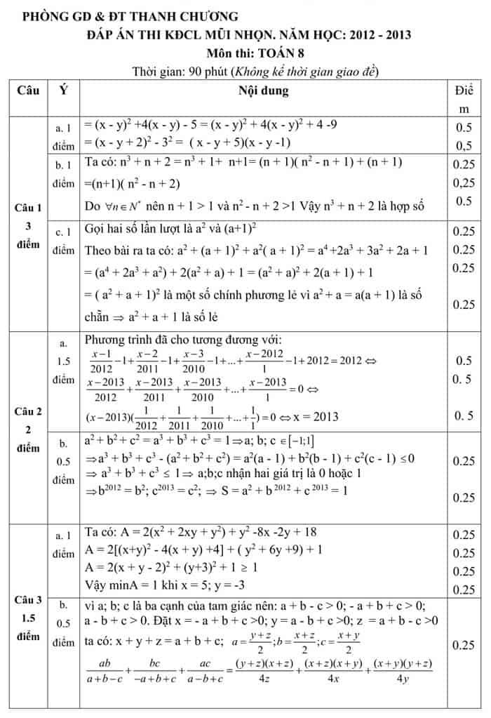 Đề thi HSG môn Toán 8 huyện Thanh Chương 2012-2013 có đáp án-1