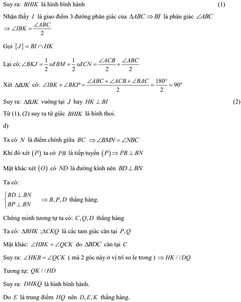 Tuyển tập các bài Hình học trong đề thi vào lớp 10 Hà Nội từ 2006 tới nay-24