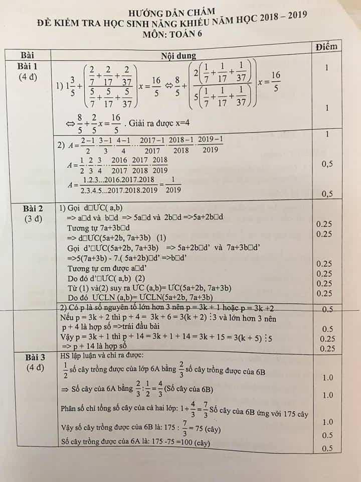 Đề thi HSG môn Toán 6 huyện Thanh Trì năm 2018-2019 có đáp án-1