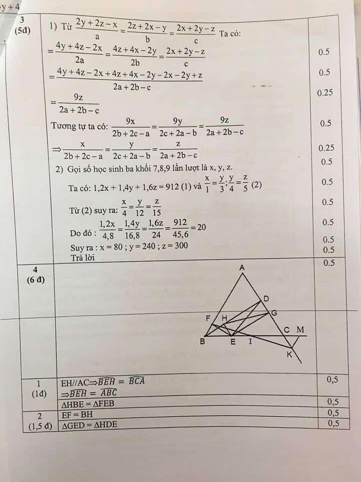 Đề thi HSG môn Toán 7 huyện Thanh Trì năm 2018-2019 có đáp án-2