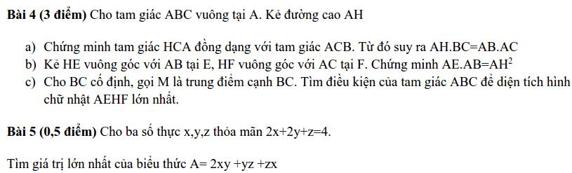 Đề kiểm tra HK2 môn Toán 8 huyện Thạch Thất 2018-2019 có đáp án-1