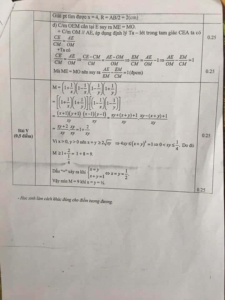 Đề thi thử vào 10 môn Toán huyện Thanh Oai 2017-2018 có đáp án-3