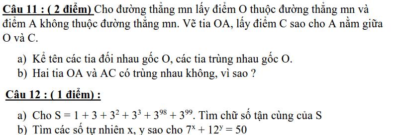 Đề kiểm tra giữa HK1 môn Toán 6 huyện Thanh Miện 2019-2020-1