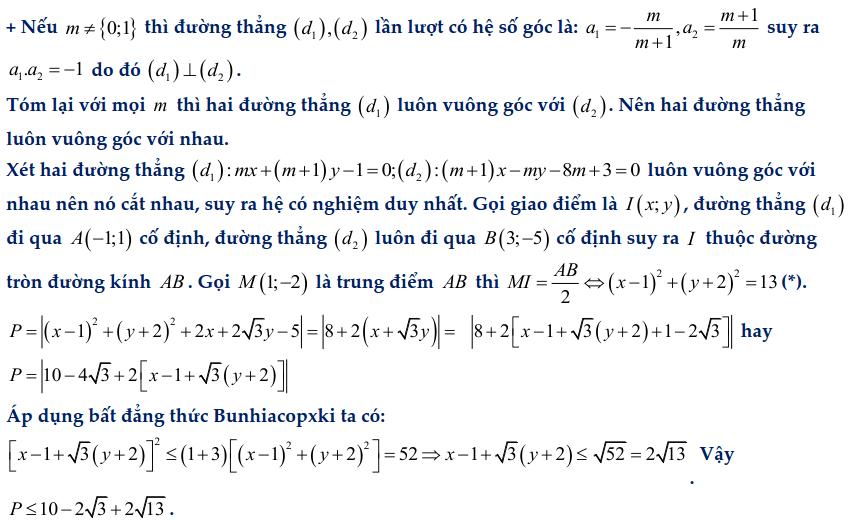Dạng toán hệ phương trình bậc nhất chứa tham số-4
