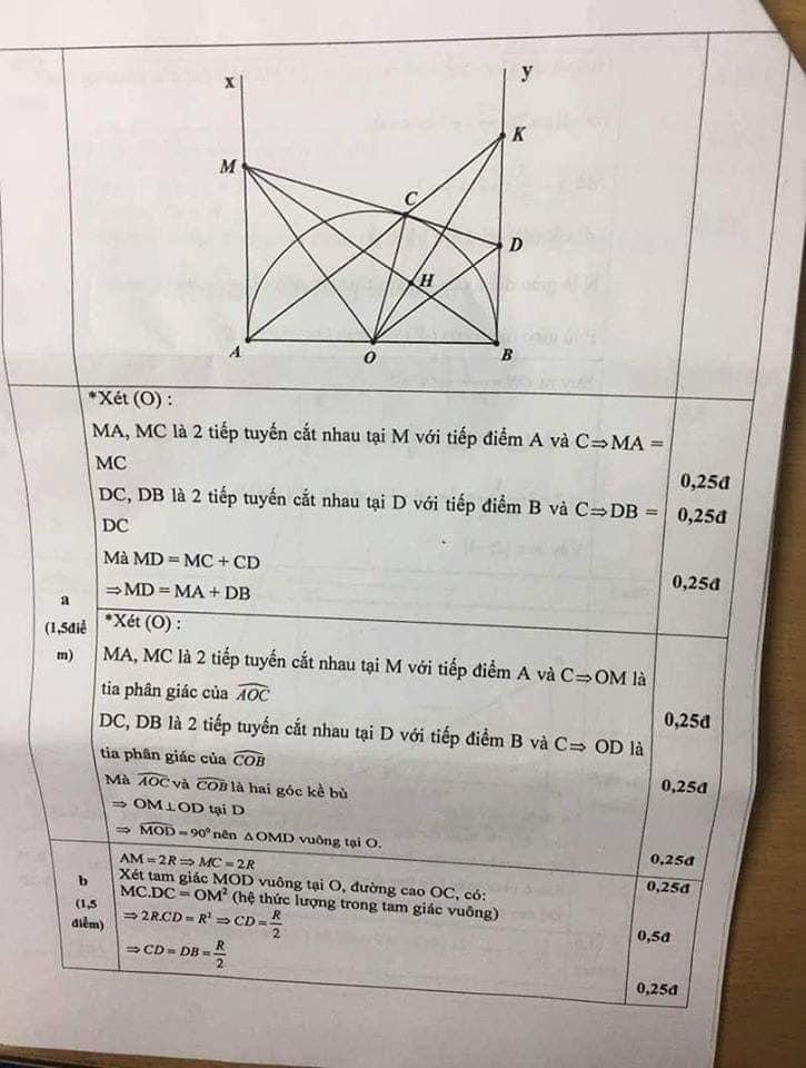 Đề kiểm tra HK1 môn Toán 9 quận Cầu Giấy 2019-2020 có đáp án-4