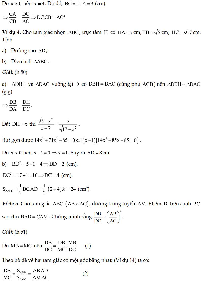 Chuyên đề tam giác đồng dạng - Toán lớp 8-2