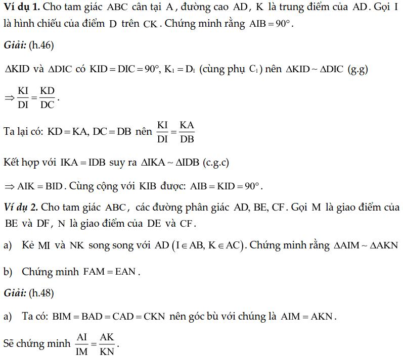 Chuyên đề tam giác đồng dạng - Toán lớp 8