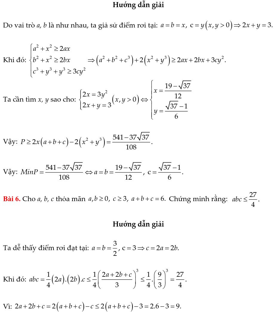 Một số ví dụ chứng minh BĐT bằng phương pháp cân bằng hệ số-2