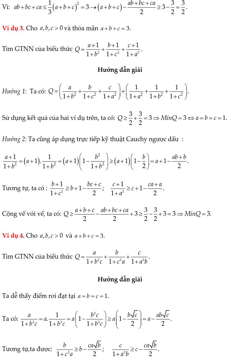 Một số ví dụ chứng minh BĐT bằng phương pháp Cauchy ngược dấu-1