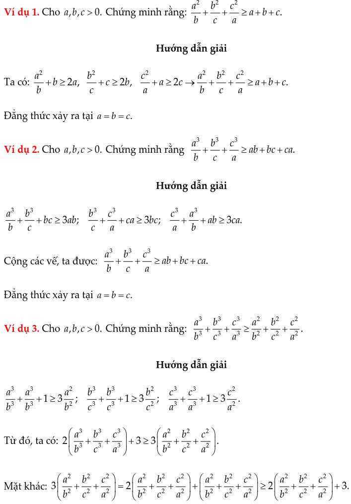 Một số ví dụ chứng minh BĐT bằng phương pháp ghép cặp