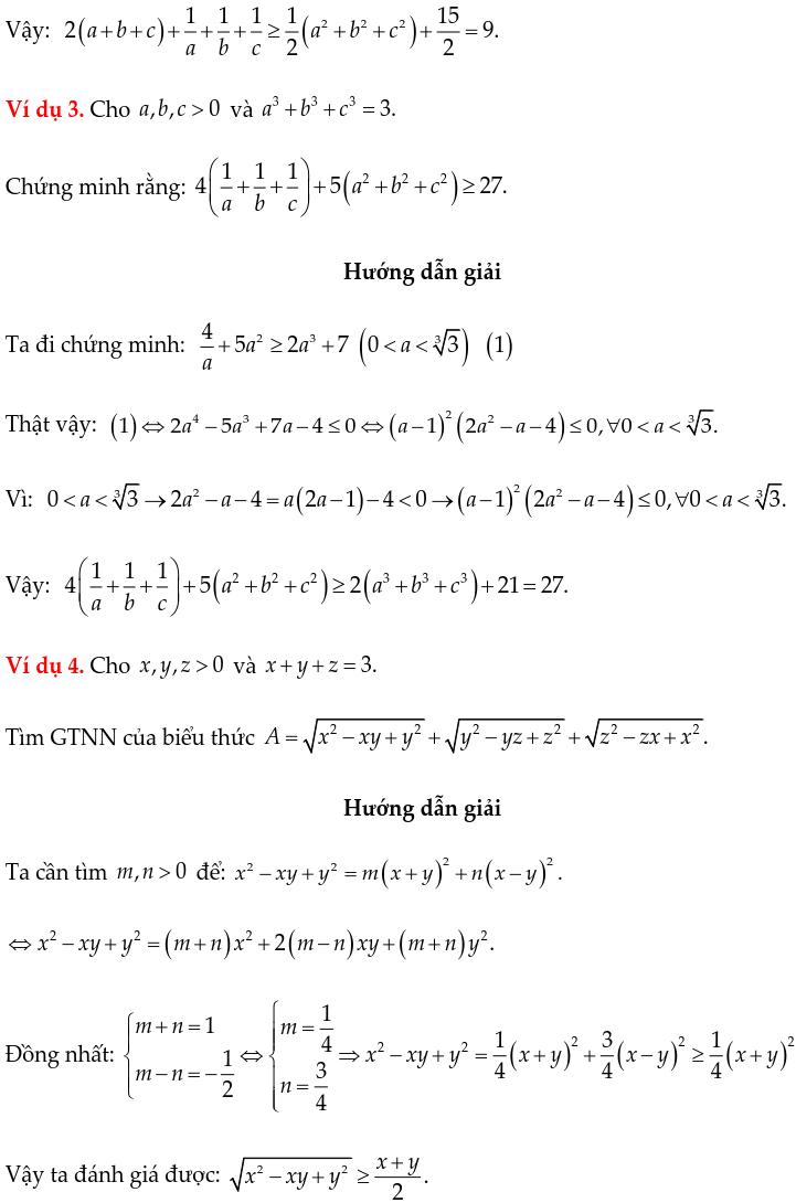 Một số ví dụ chứng minh BĐT bằng phương pháp hệ số bất định UCT-2