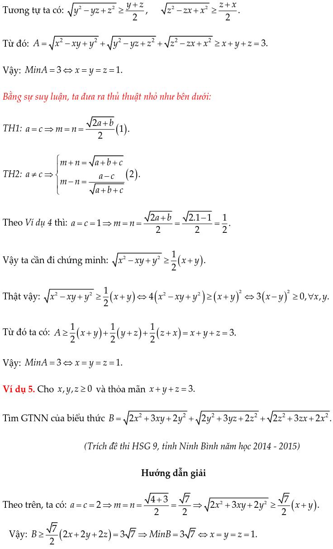 Một số ví dụ chứng minh BĐT bằng phương pháp hệ số bất định UCT-3