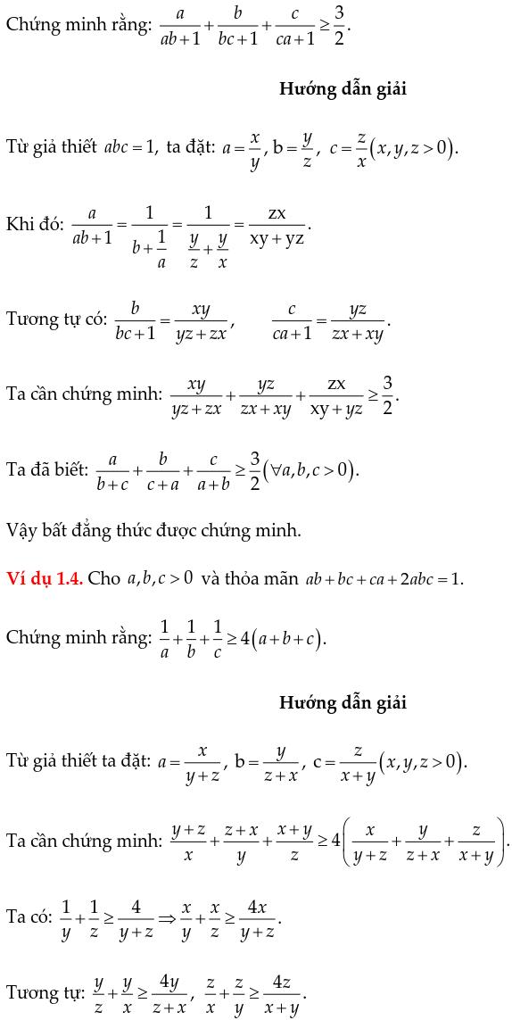 Phương pháp đổi biến chứng minh bất đẳng thức-2