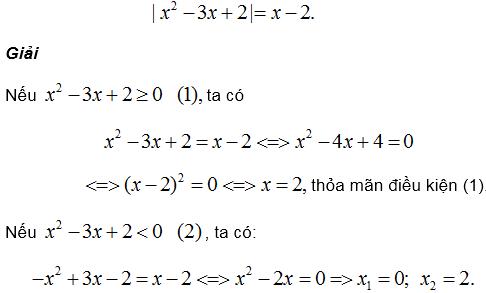 Phương tình quy về phương trình bậc hai – Bồi dưỡng Đại số 9